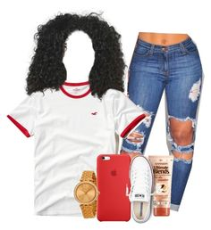 """Typical Girl"" by melaninprincess-16 ❤ liked on Polyvore featuring Hollister Co., Garnier, Converse and Michael Kors"