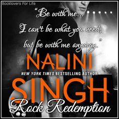 Rock Redemption (Rock Kiss #3) by Nalini Singh ♥ (Click to read my review) #book…