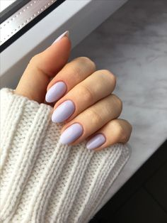 Short almond nails 50 chic manicure ideas # ideas # short # almond nail # manicure # chic The most b Mauve Nails, Pastel Nails, Purple Nails, White Nails, Summer Acrylic Nails, Cute Acrylic Nails, Acrylic Nail Shapes, Hair And Nails, My Nails