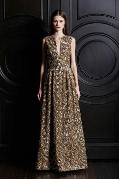 Naeem Khan | Pre-Fall 2013 Collection | Style.com - neckline, waist