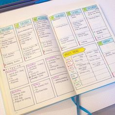pretty weekly spread with all the details for bullet journal #weeklyspread…