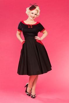 pretty black a line skirt with pockets waist high