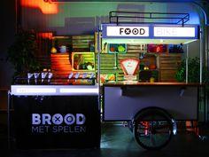 De Foodbike van Brood met Spelen. Vanuit hier bereiden we het beste Streetfood tijdens jouw (tuin)feest. Catering, Broadway Shows, Gastronomia