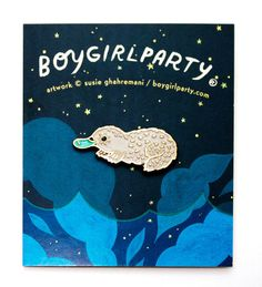 Platypus Pin Enamel Pin by boygirlparty /  Susie Ghahremani / http://shop.boygirlparty.com