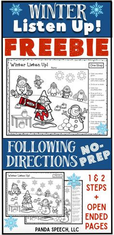 FREE following directions worksheets! Repinned by SOS Inc Resources at www.pinterest.com/sostherapy/