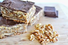 Untrendy Life: Hungarian Zserbó - Gerbeaud Cake or Walnut, Apricot Layered Cake Recipe