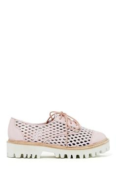 These shoes are pretty rad. Jeffrey Campbell Still Blushing Oxford
