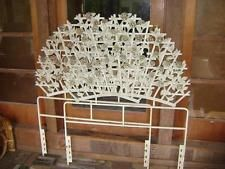 VTG HOLLYWOOD REGENCY IRON TRELLIS ROSES TWIN KING HEADBOARDS DAYBED PATIO GIRL