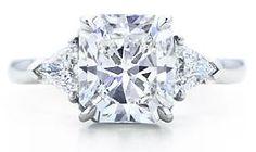Tiffany Lucida w/ trilliant side stones