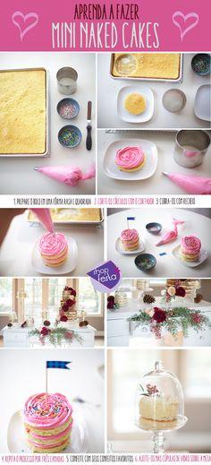Mini Naked Cake: aprenda a fazer e a deixar sua mesa de doces irresistível   Shopfesta
