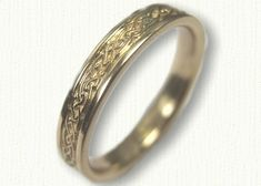 Yellow Gold Celtic Glasgow Knot Wedding Band - Narrow mm width - Available In All Sizes and Widths Celtic Wedding Bands, Wedding Rings, Two Tones, Glasgow, Dream Wedding, Gold Rings, White Gold, Rose Gold, Engagement Rings