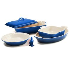 Amazon.com: Le Creuset 6 Piece Cherry Stoneware Heritage Bakware Set: Kitchen & Dining