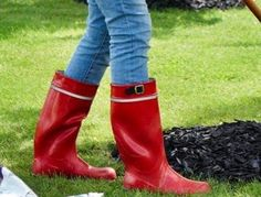 Wellies Rain Boots, Hunter Boots, Rubber Rain Boots, Latex, Shoes, Fashion, Boots, Welly Boots, Moda