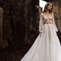 Word. Give me your one word to describe this @paolo_sebastian couture wedding dress...