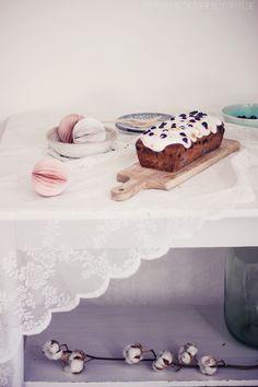 butiksofie: Blaubeer-Baiser-Quark-Kuchen und Bergflocke