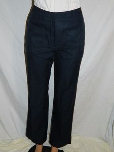 346 Brooks Brothers Women's Navy Blue Advantage Pants Slacks Size 6 INV#0341 #BrooksBrothers #KhakisChinos