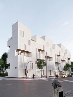Social housing on behance social housing architecture, balconies, facade, building, house Social Housing Architecture, Architecture Renovation, Modern Architecture House, Facade Architecture, Residential Architecture, Amazing Architecture, Minimal Architecture, Landscape Architecture, Architecture Concept Drawings