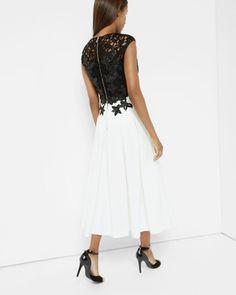 Embroidered appliqué midi dress - Black   Dresses   Ted Baker