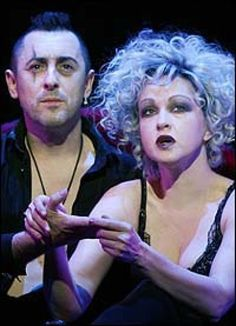 Alan Cumming and Cyndi Lauper in The Threepenny Opera.