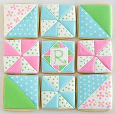 Loving these Quilt cookies by Glorious Treats.