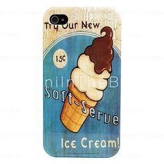 Ice Cream Pattern Hard Case for iPhone 4/4S