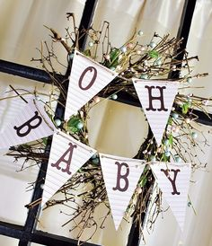 """Happy Trails"" Spring Baby Shower Soirée // Hostess with the Mostess® Shower Party, Baby Shower Parties, Shower Gifts, Baby Shower Themes, Shower Ideas, Shower Favors, Bridal Shower, Baby Banners, Baby Bunting"