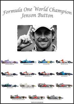 """Formula One: World Champion Jenson Button - F1 Drivers, Indy Cars, F 1, Formula One, Grand Prix, Race Cars, Pilot, Buttons, Nascar"