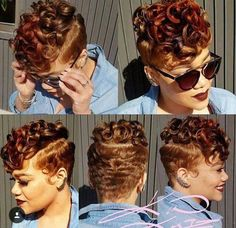 A pixie haircut is a great solution for a contemporary woman on the go. It's convenient, pretty and appropriate for hair of any type. Pixie haircuts for thick h Short Sassy Hair, Cute Hairstyles For Short Hair, Black Girls Hairstyles, Short Hair Cuts, Curly Hair Styles, Natural Hair Styles, Hairstyles Pictures, My Hairstyle, Relaxed Hair