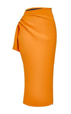 This **Maticevski** skirt features a side panel detail, a midi length hemline, and a pencil styled silhouette.