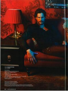 Joe Manganiello in the red room of pain...yup he could be Mr Grey..