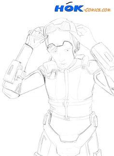 Sci-Fi Girl - Digital Pencil Sketch