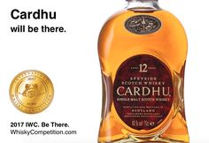 CARDHU will be at the 2017 International Whisky Competition.