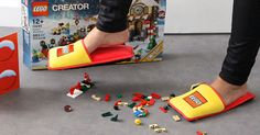 Few forms of sadistic torture in this world are more excruciatingly painful than having to walk across a field of LEGOs left on the ground by a careless child. Fortunately, there is now a way to protect yourself from these domestic minefields: LEGO, working together with French advertising agency Brand Station, has invented anti-LEGO slippers!