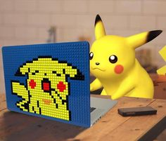 Pikachu Brik Book Lego Pixel Art Laptop Case
