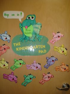 frog+theme+preschool+decorating+classroom | Students are greeted by personalized frogs when they enter the ...