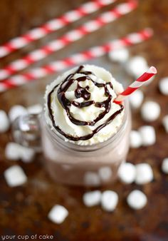 Frozen Hot Chocolate and a BlendTec Giveaway! - Your Cup of Cake
