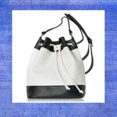 Colorblock Drawstring Bag