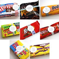 Fun sayings on candy; cute gift ideas