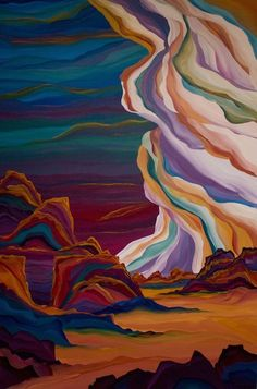 Judy Choate, landscape painter, showing at James Ratliff gallery, Sedona.