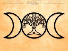 Goddess Symbols, Moon Symbols, Wiccan Symbols, Goddess Art, Wiccan Art, Pagan Tattoo, Wiccan Tattoos, Symbol Tattoos, Witch Tattoo