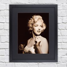 Marilyn Monroe - Spotlight - Mounted & Framed Poster Art Print - 22.5 x 27 Inches  ( 57 x 68.5 cm ) by TheRedbusGallery on Etsy