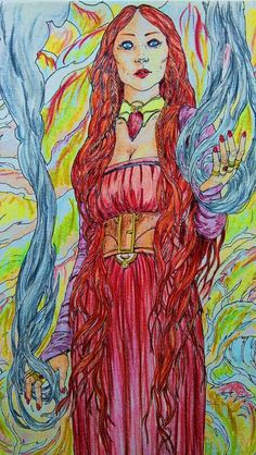 Melisandre - Game of Thrones, coloring book