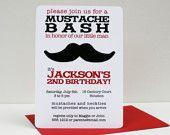 Mustache Party: invitations (mustache is FUZZY)!