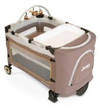 portable crib: wheels, play pen, side storage, changing table, bassinet, discreet look:)