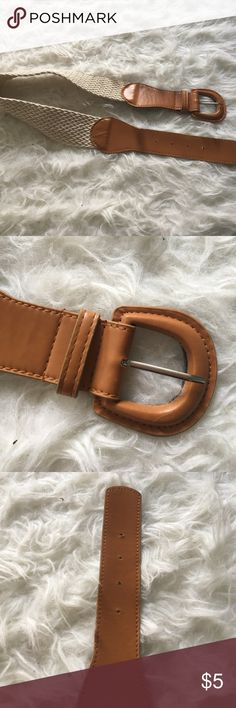 Brown Woven Torso Belt Only worn once, is great for a fashion piece for a dress. I would not say this would fit around a waist. Accessories Belts