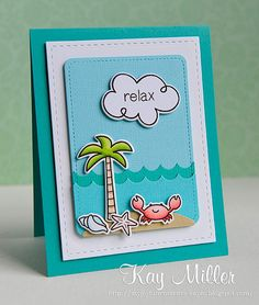 Lawn Fawn - Life is Good + coordinating dies, Bon Voyage + coordinating die, Stitched Journaling Card Lawn Cuts die _ seriously adorable beach-themed card