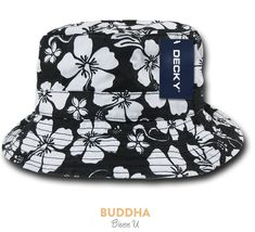 e08ec417e02 Decky Floral Polo Bucket Caps Hats