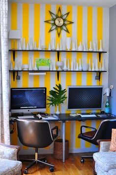 My dream is to be able to work from home, side-by-side with my boyfriend.  I love the wallpaper!