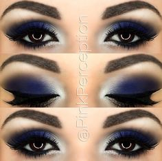blue smokey eye - Make Up 2019 Blue Makeup Looks, Blue Eye Makeup, Eye Makeup Tips, Smokey Eye Makeup, Makeup Goals, Makeup Ideas, Makeup Tutorials, Makeup Eyeshadow, Makeup Brushes