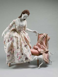 Robe à la Polonaise 1780 The Metropolitan Museum of Art 18th Century Dress, 18th Century Costume, 18th Century Clothing, 18th Century Fashion, 16th Century, Rococo Fashion, French Fashion, Vintage Fashion, Historical Costume